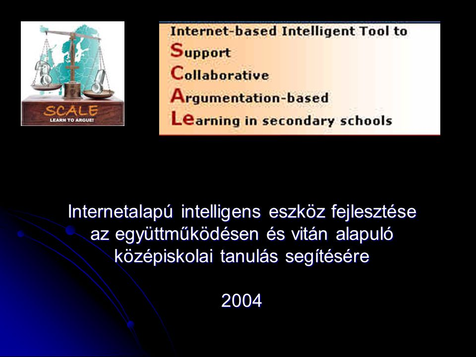 Internetalapú intelligens eszköz fejlesztése az együttműködésen és vitán alapuló középiskolai tanulás segítésére
