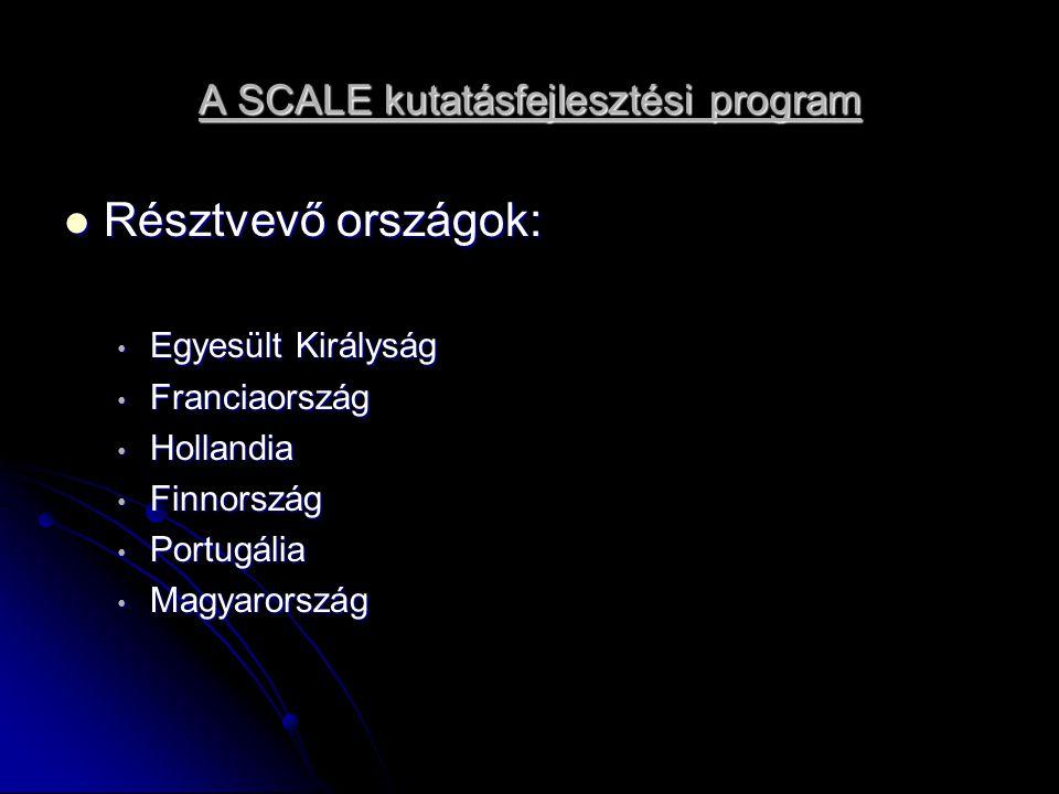 A SCALE kutatásfejlesztési program