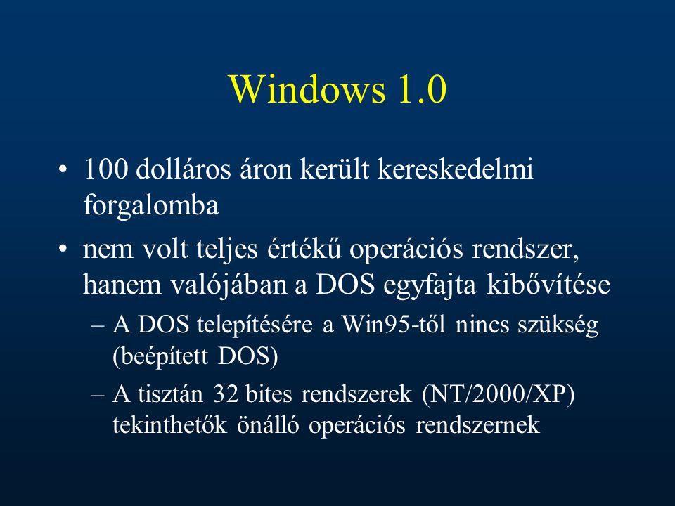 Windows 1.0 100 dolláros áron került kereskedelmi forgalomba