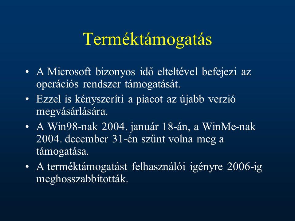 Terméktámogatás A Microsoft bizonyos idő elteltével befejezi az operációs rendszer támogatását.