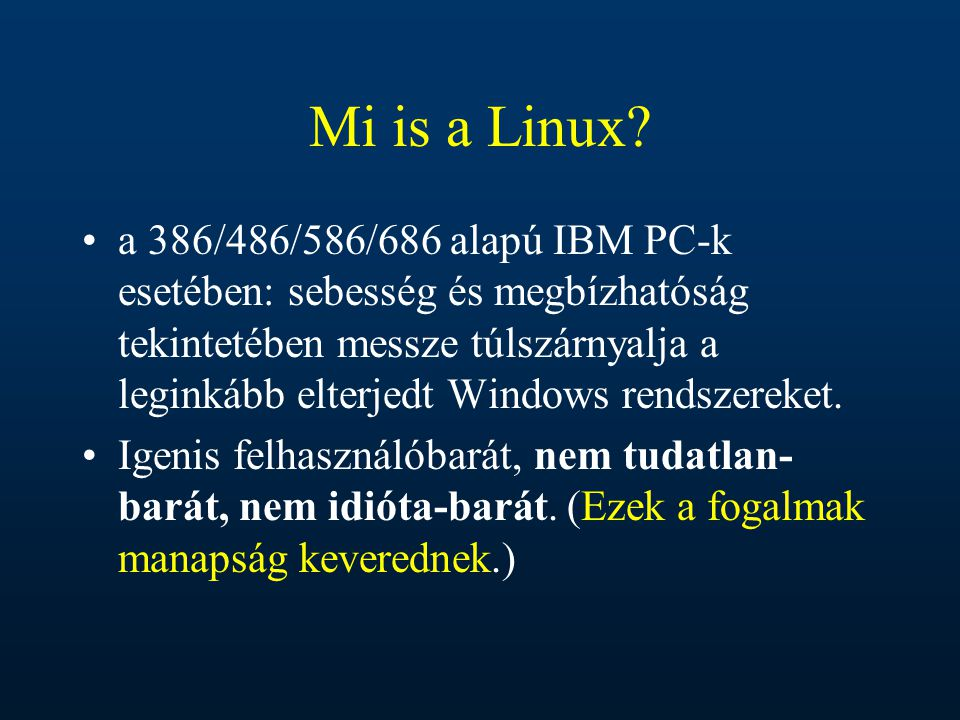 Mi is a Linux