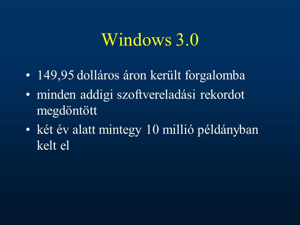 Windows 3.0 149,95 dolláros áron került forgalomba