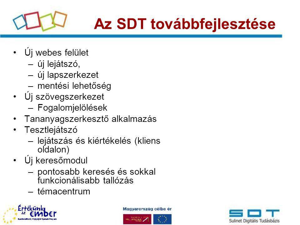 Az SDT továbbfejlesztése