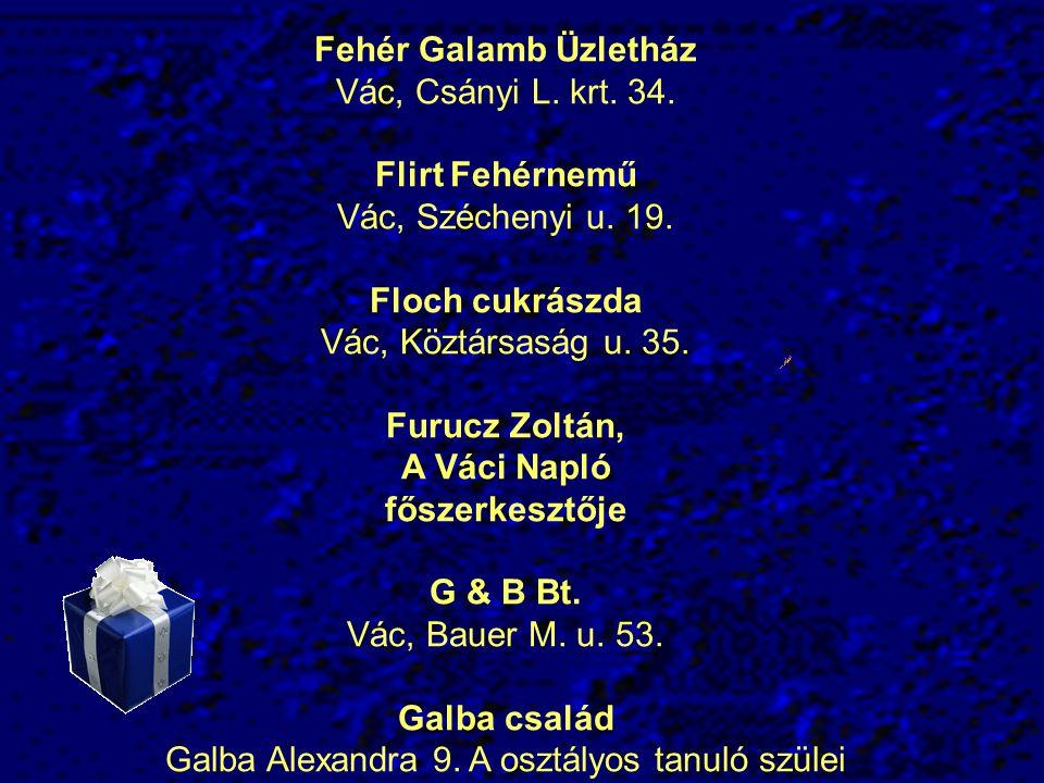 Galba Alexandra 9. A osztályos tanuló szülei