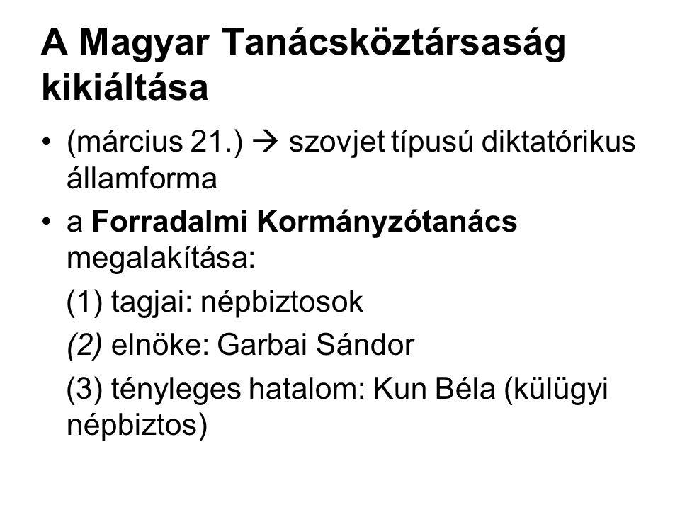 A Magyar Tanácsköztársaság kikiáltása