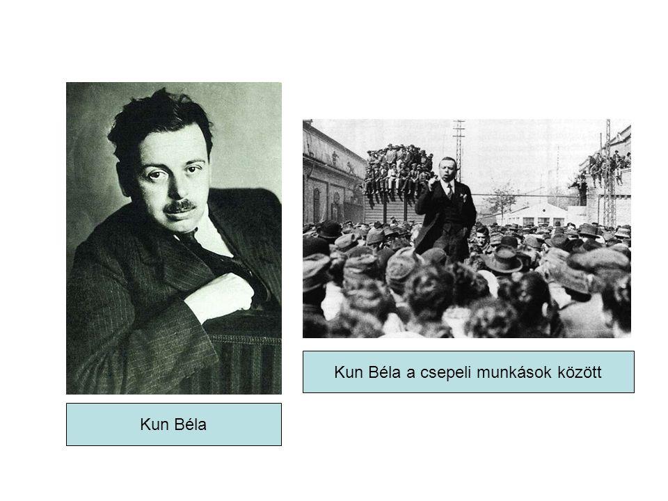 Kun Béla a csepeli munkások között