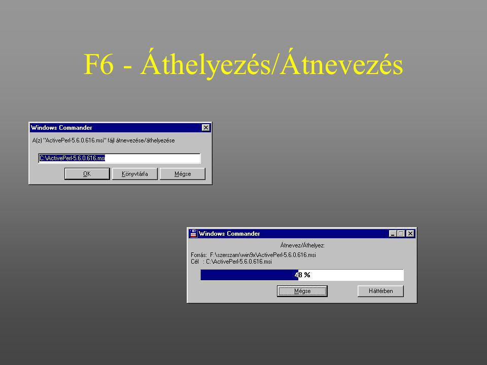 F6 - Áthelyezés/Átnevezés