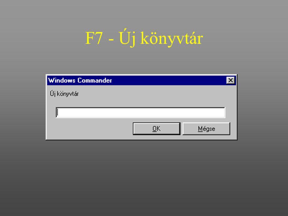 F7 - Új könyvtár