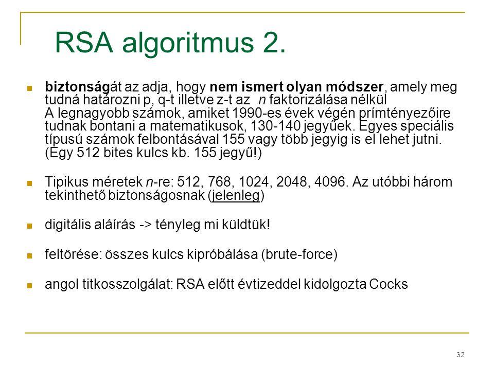 RSA algoritmus 2.