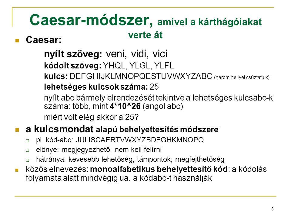 Caesar-módszer, amivel a kárthágóiakat verte át