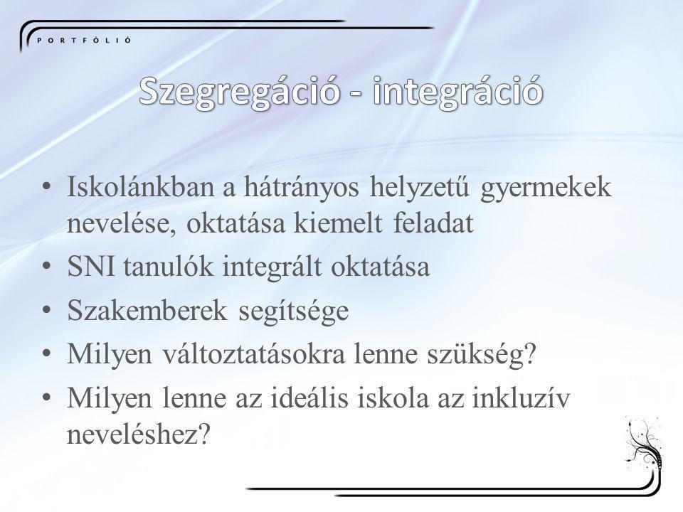 Szegregáció - integráció