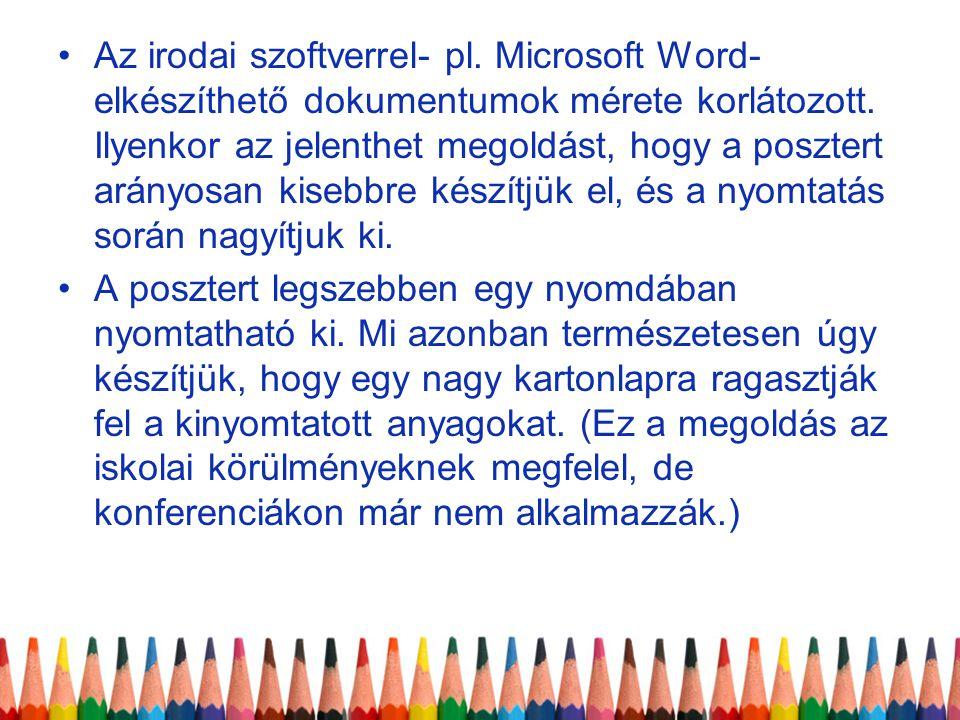 Az irodai szoftverrel- pl
