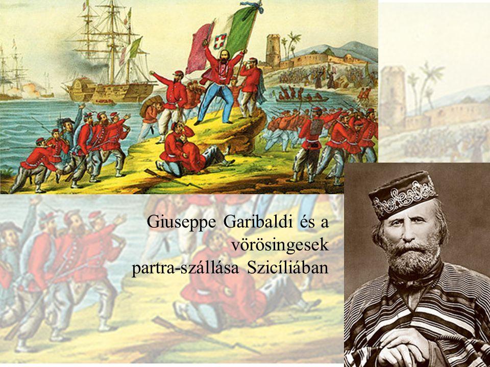 Giuseppe Garibaldi és a vörösingesek