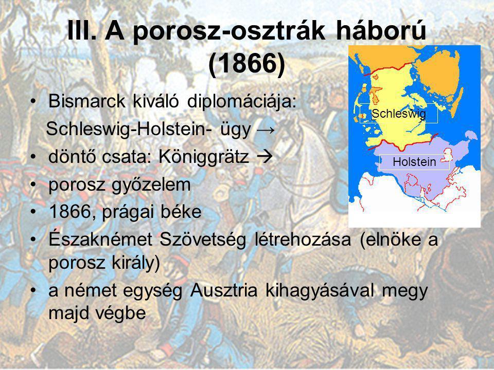 III. A porosz-osztrák háború (1866)