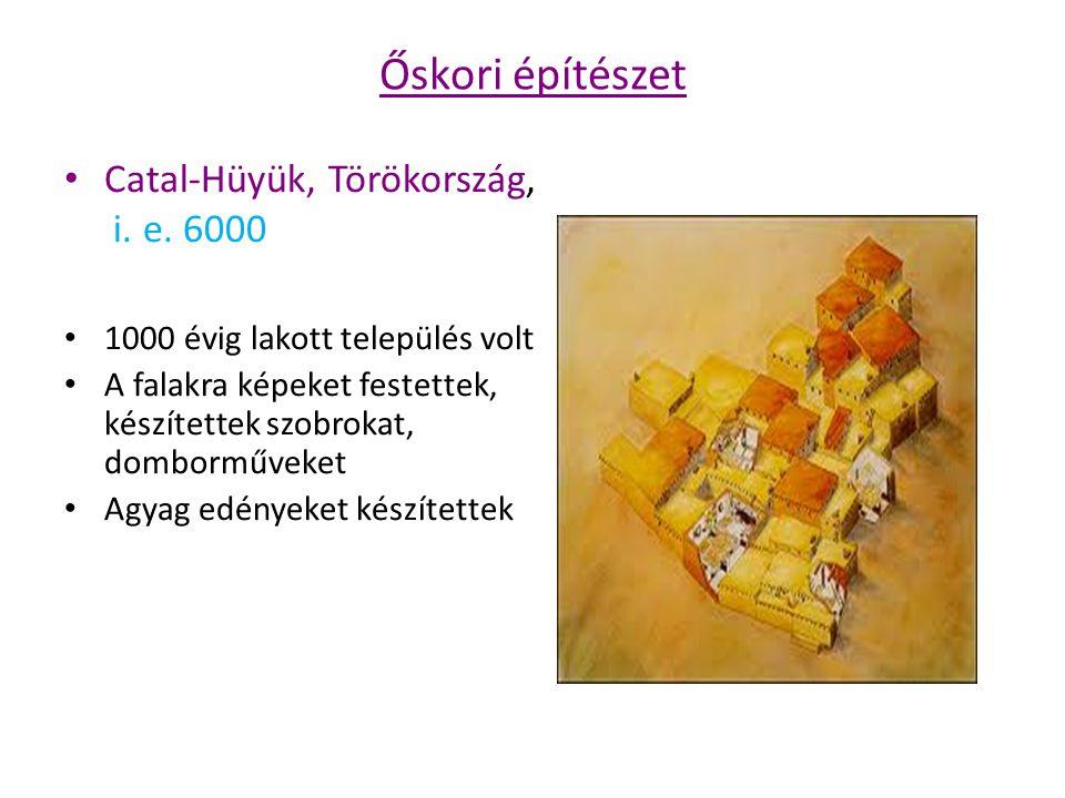 Őskori építészet Catal-Hüyük, Törökország, i. e. 6000