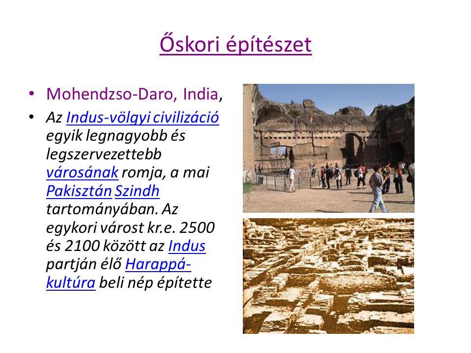 Őskori építészet Mohendzso-Daro, India,