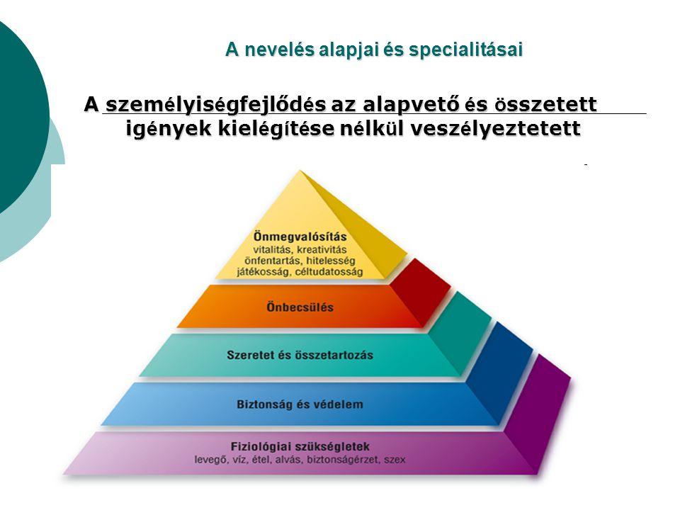 A nevelés alapjai és specialitásai
