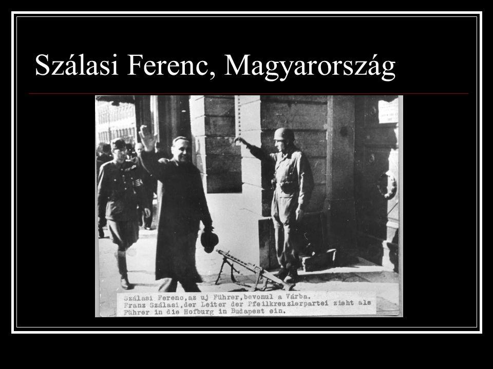 Szálasi Ferenc, Magyarország