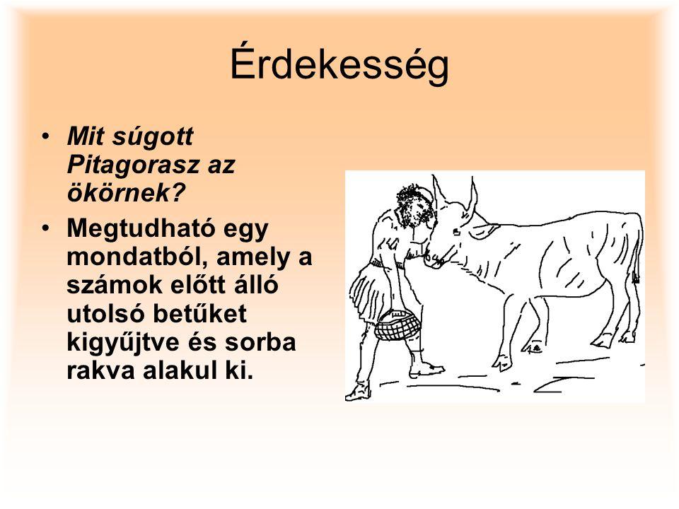Érdekesség Mit súgott Pitagorasz az ökörnek