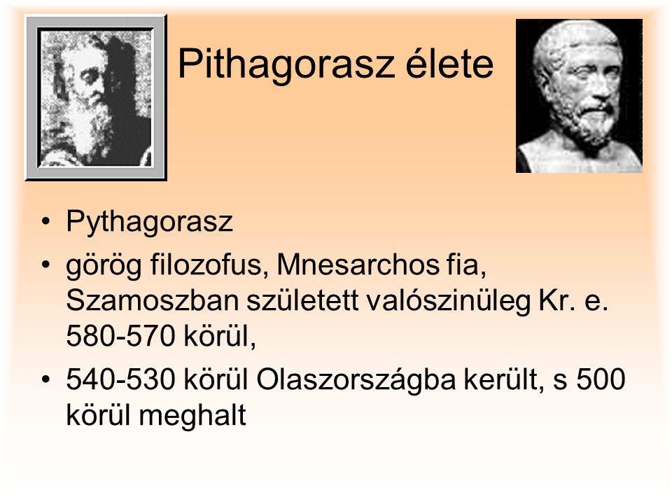 Pithagorasz élete Pythagorasz