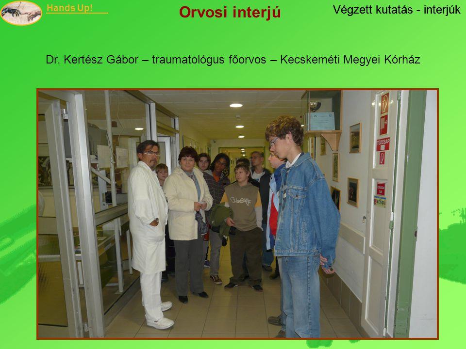 Dr. Kertész Gábor – traumatológus főorvos – Kecskeméti Megyei Kórház