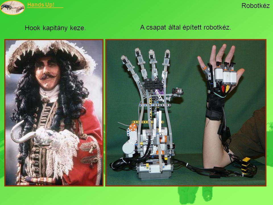 Robotkéz Hook kapitány keze. A csapat által épített robotkéz.