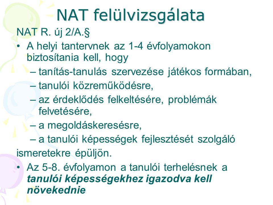 NAT felülvizsgálata NAT R. új 2/A.§