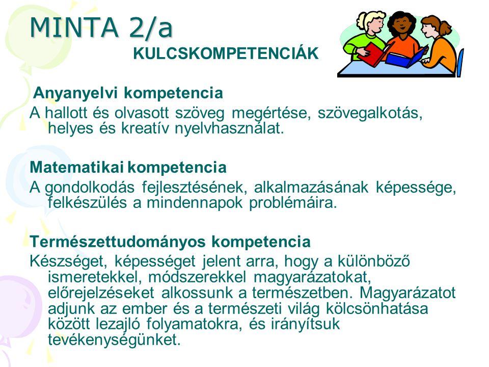 MINTA 2/a KULCSKOMPETENCIÁK
