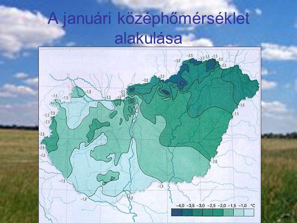 A januári középhőmérséklet alakulása