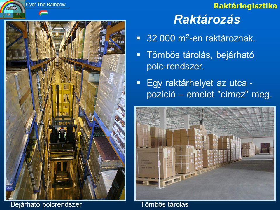 Raktározás 32 000 m2-en raktároznak.