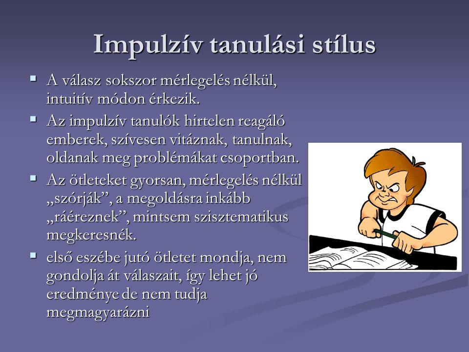 Impulzív tanulási stílus