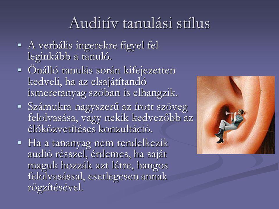 Auditív tanulási stílus