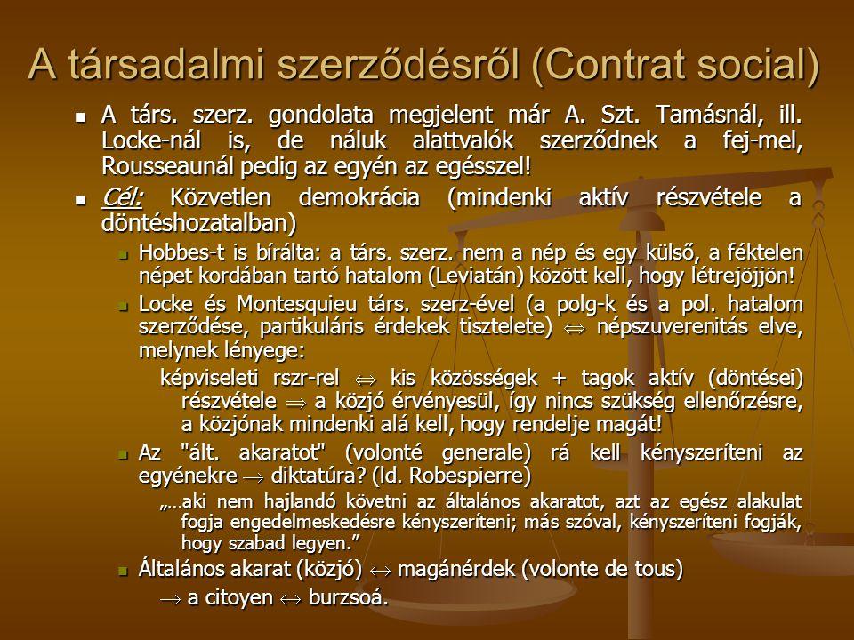 A társadalmi szerződésről (Contrat social)