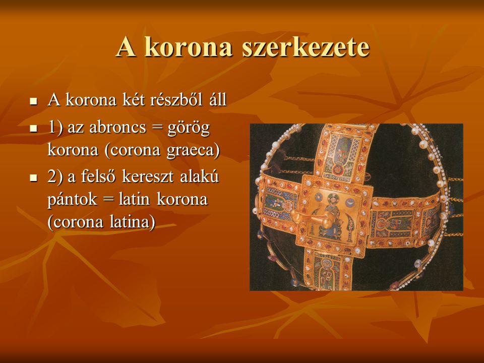 A korona szerkezete A korona két részből áll