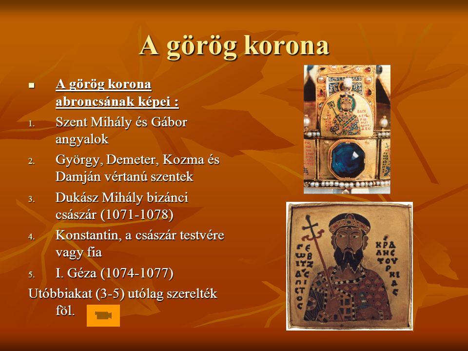 A görög korona A görög korona abroncsának képei :