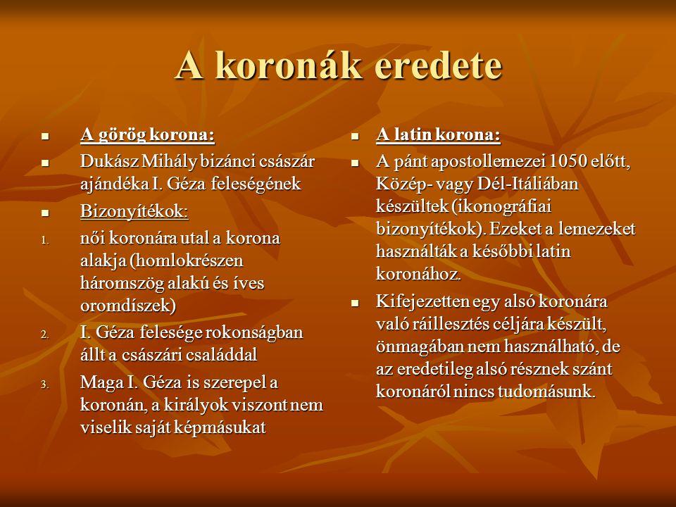 A koronák eredete A görög korona: