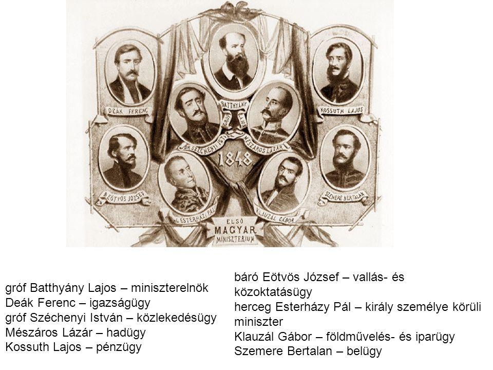gróf Batthyány Lajos – miniszterelnök