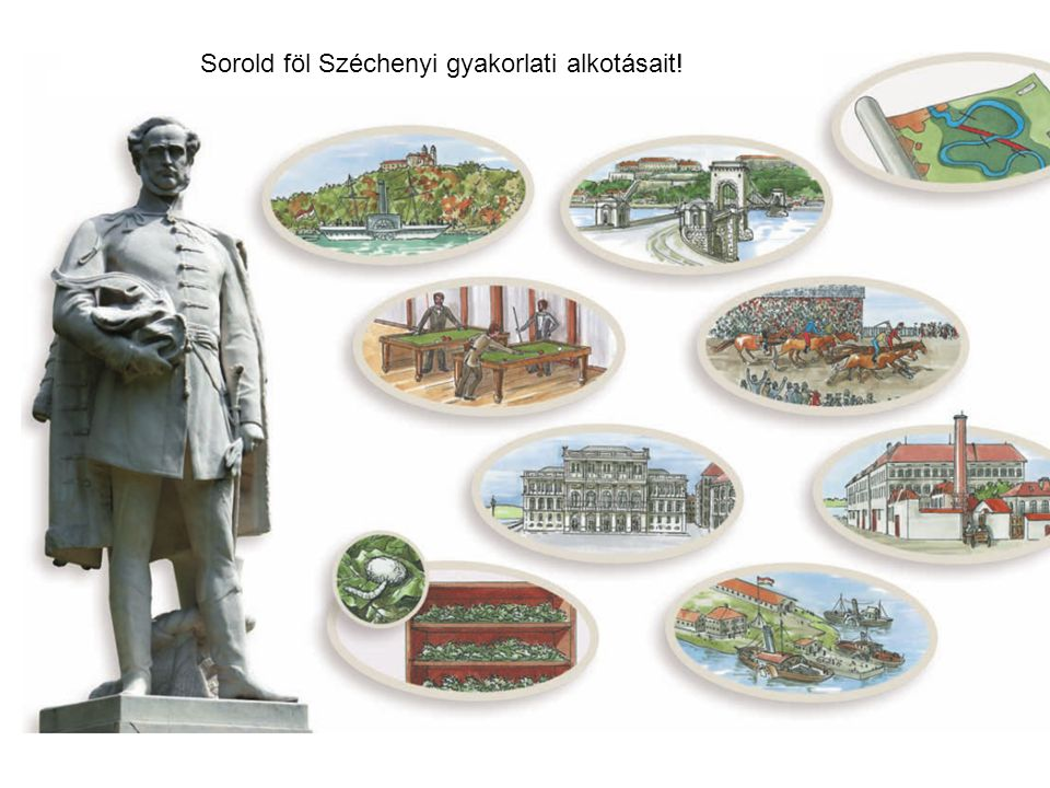 Sorold föl Széchenyi gyakorlati alkotásait!