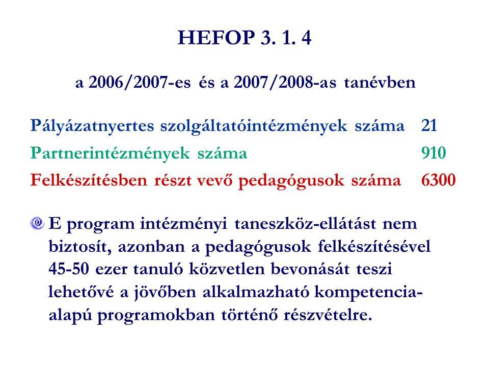 a 2006/2007-es és a 2007/2008-as tanévben