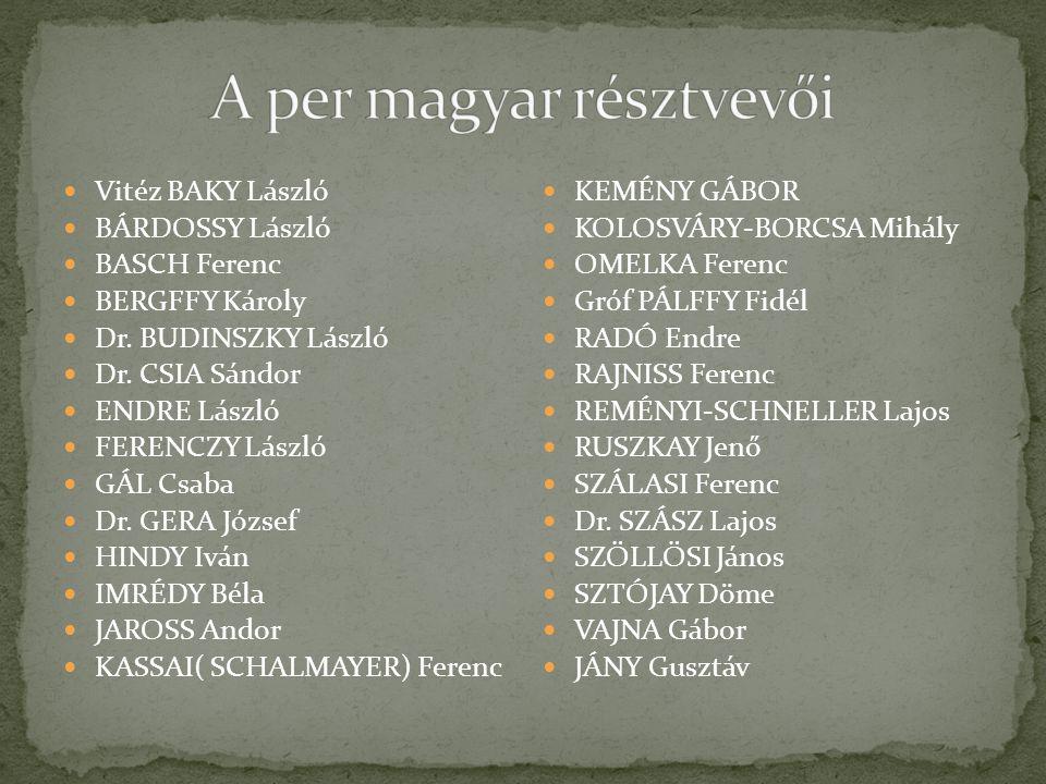 A per magyar résztvevői