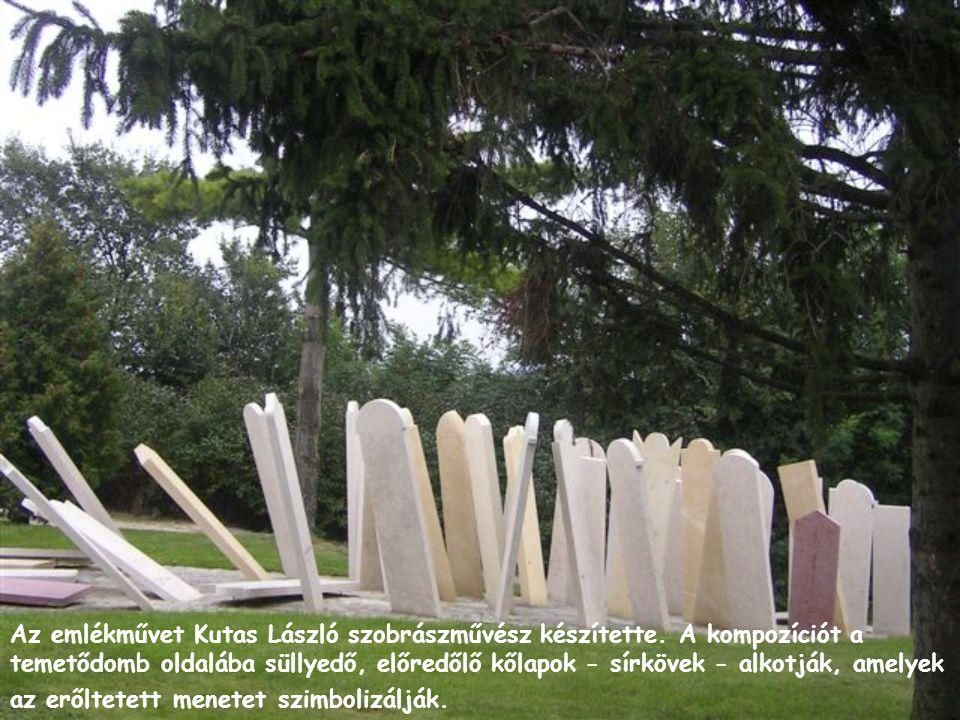 Az emlékművet Kutas László szobrászművész készítette