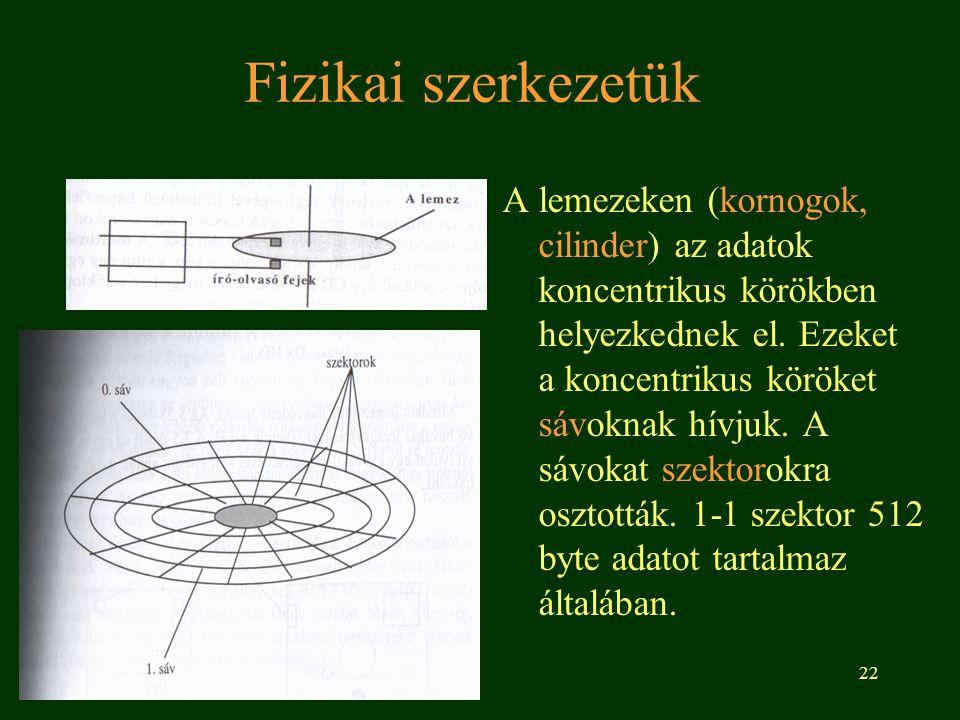 Fizikai szerkezetük