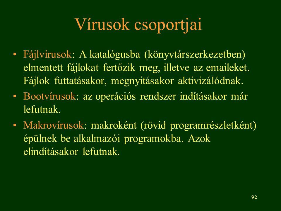 Vírusok csoportjai