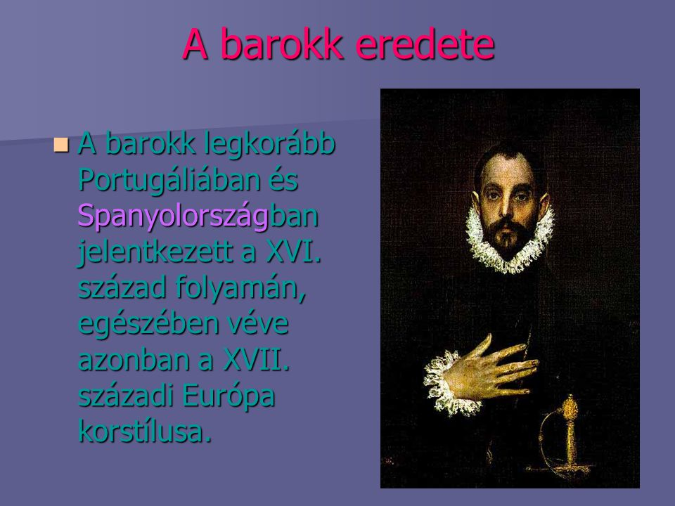 A barokk eredete