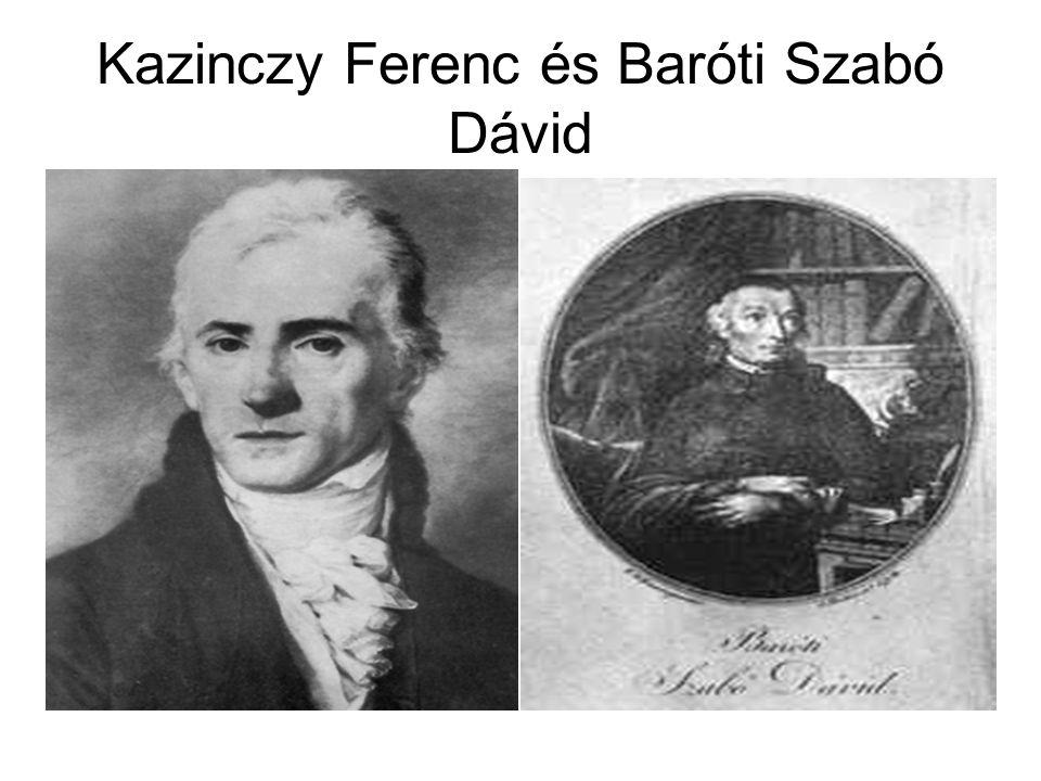 Kazinczy Ferenc és Baróti Szabó Dávid