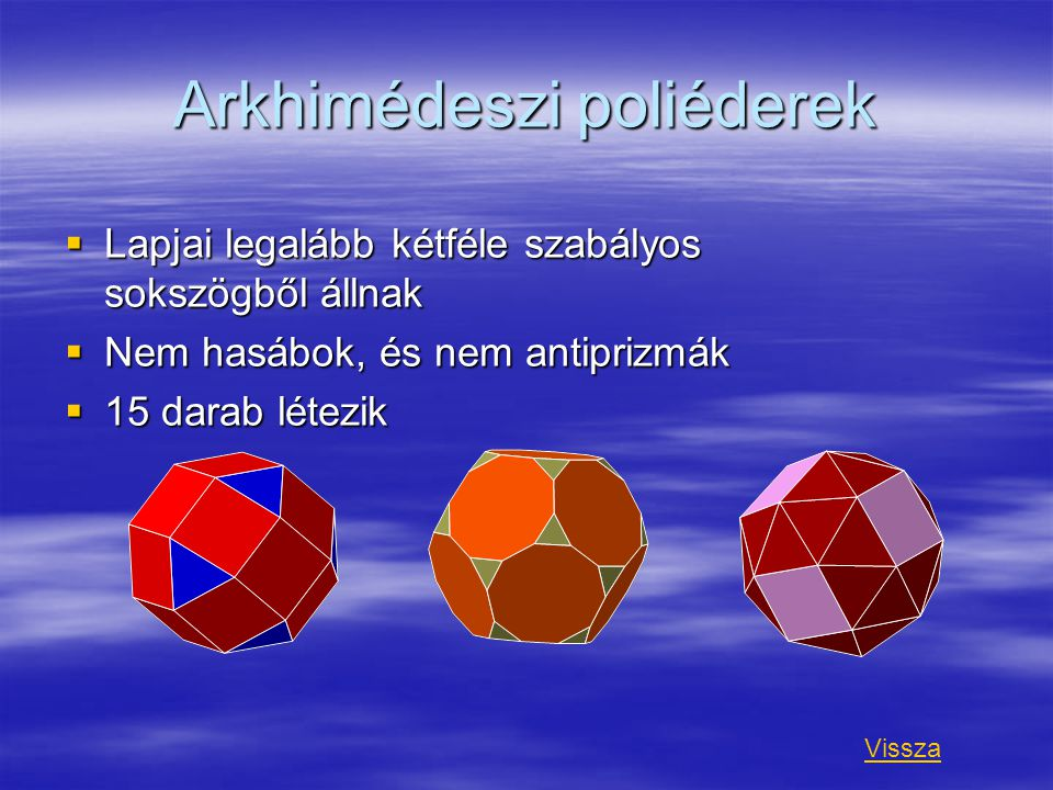 Arkhimédeszi poliéderek