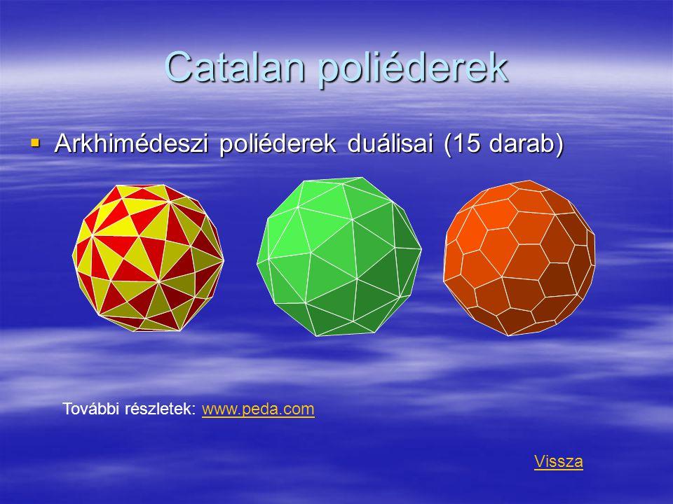 Catalan poliéderek Arkhimédeszi poliéderek duálisai (15 darab)