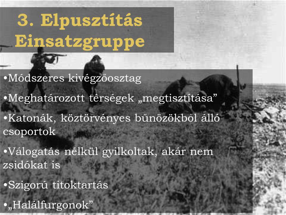 3. Elpusztítás Einsatzgruppe