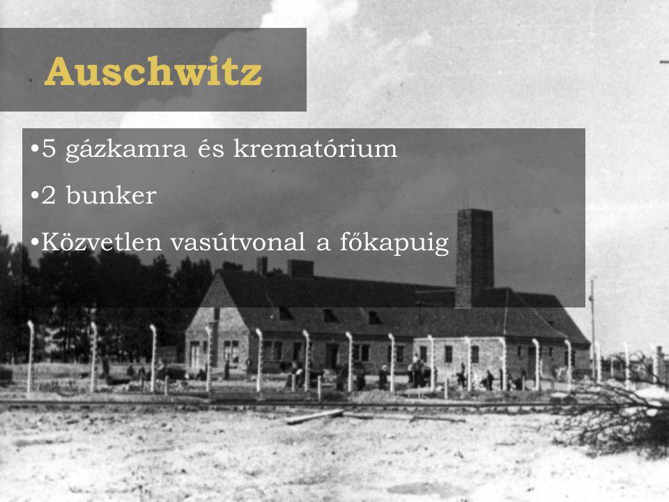 Auschwitz 5 gázkamra és krematórium 2 bunker
