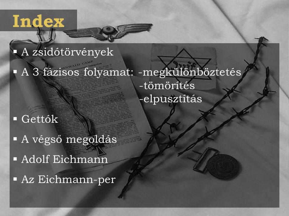 Index A zsidótörvények